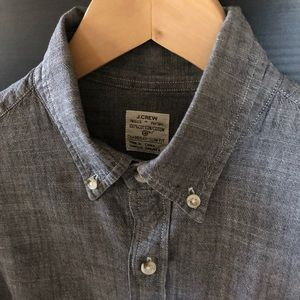 J.Crew Men's Slim Fit Chambray Button Up - Sz S